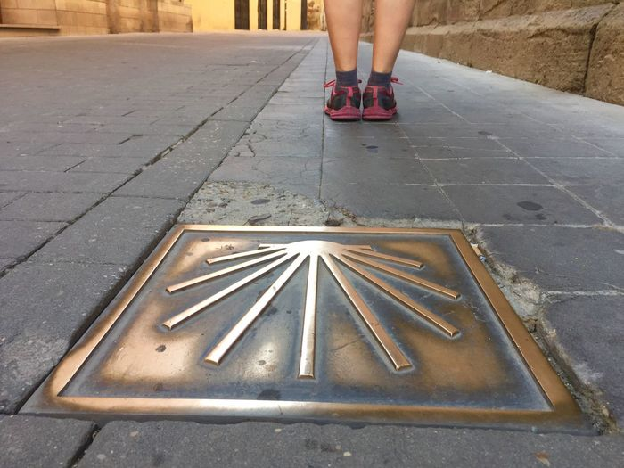 CaminodeSantiago Low Section Human Leg Human Body Part Real People One Person Outdoors Day People Adult
