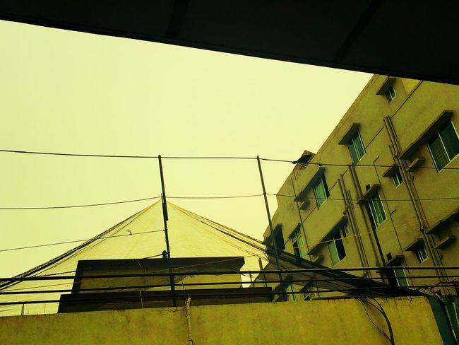 Shiddeshwari Dhaka Low Angle View Built Structure Architecture Building Exterior Yellow No People Cable