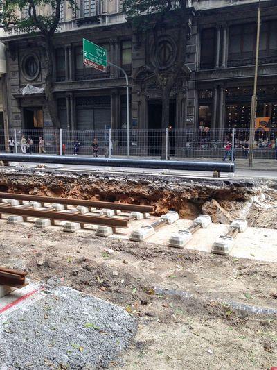 Obras do Vlt Veículo Leve Sobre Trilhos Rio De Janeiro Centro Transporte Trilhos Under Construction...