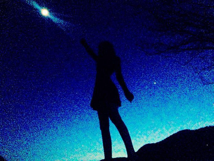 Sky Dark Stars Evening