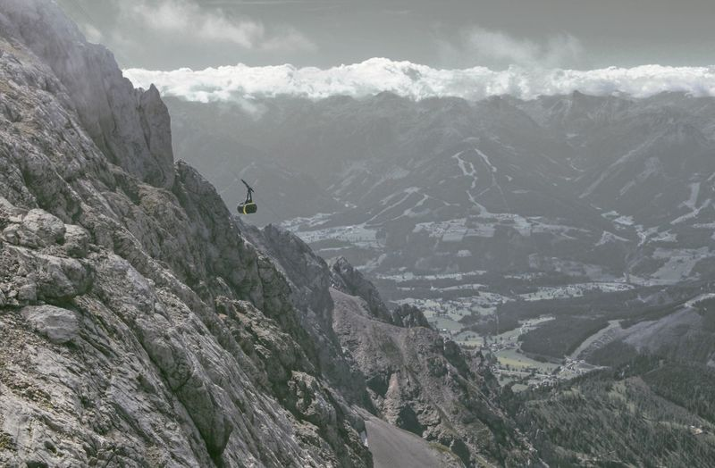 Austria Cable Car Dachstein Activity Adventure Beauty In Nature Cloud - Sky Mountain Mountain Peak Mountain Range Nature Nature_collection Nature_perfection Naturelovers Scenics - Nature Tranquil Scene Tranquility