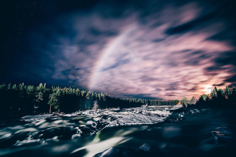 Astronomy Beauty In Nature Cloud - Sky Cold Temperature Landscape Motion Mountain Nature Night No People Outdoors Popular Photos Scenics Sky Snow Star - Space Sunset Tranquil Scene Tranquility Tree Water Winter Be. Ready.