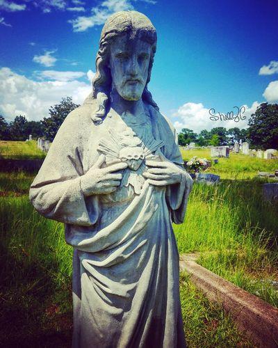 Beautiful cemetery statue