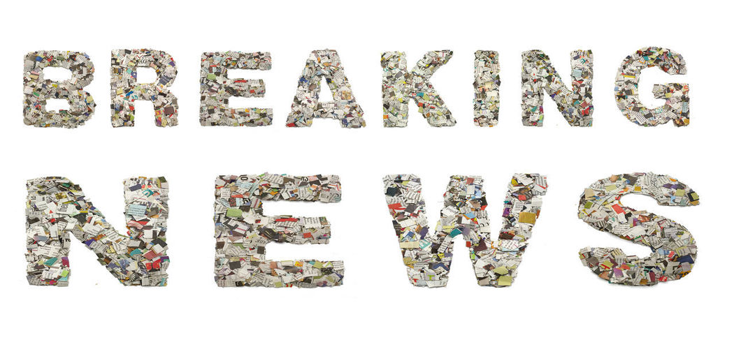 BREAKING NEWS Breaking News Letters Magazine Cover Typography Arrangement Capital Letter Clippings Close-up Communication Confetti Cut Out Cut Up Paper Large Group Of Objects Newpaper Paper Printed Media Still Life Studio Shot Text Western Script White Background World
