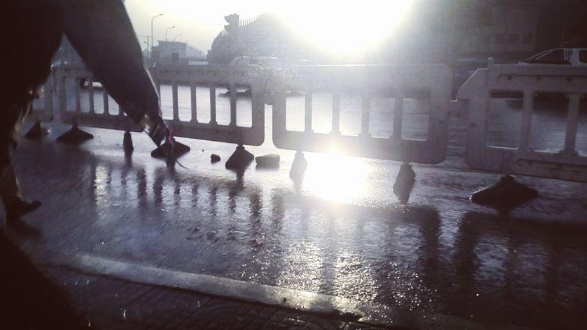 Sunlight Outdoors Wet City After The Rain Addis Ababa Ethiopia Walkway Sunlight