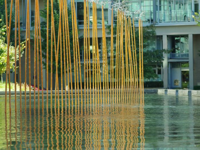 Olympic Village Water Reflection Yellow Rippled Modern No People Fujifilm_xseries Showing Imperfection Eyemphotography Vancouver