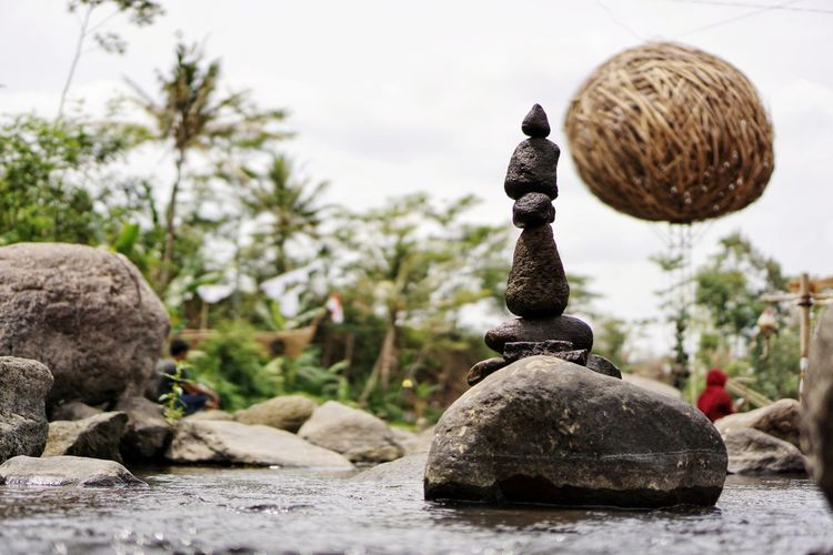 Stone Balancing, Rock Balancing Java ASIA River Lake Swamp Nature Scenery EyeEm Nature Lover Spa Rock Balance Rock Formation Stone Balancing Stone Balance Tranquility Peace INDONESIA Tree Sculpture Rock - Object Statue Close-up Tranquil Scene Rock Countryside Stack Rock Calm Scenics