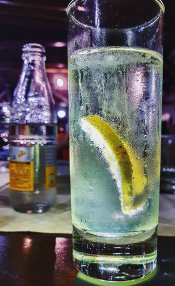 Mobile photography while refreshing ;) GIN Tonic Water Alcohol Close-up Cold Temperature Day Drink Drinking Glass Food And Drink Freshness Indoors  Lemon No People Refreshment Table Tonic Tonic Water