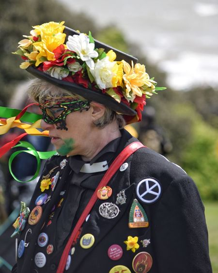 Jack In The Green Festival Jack In The Green May Day 2017 May Day East Sussex Pagan Hastings Headwear People Headdress Adults Only One Person Only Women Flower Outdoors Parade Cultures Pagan Festival Performing Arts Event Carnival Spirit Celebration Disguise Close-up Multi Colored Live For The Story
