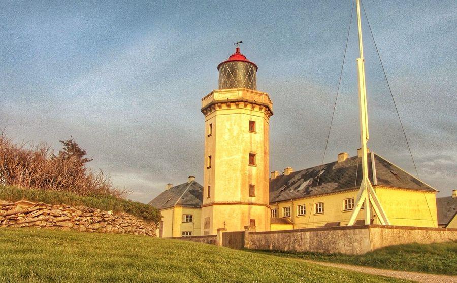 The lighthouse painted with rays of sun. ☀️ Denmark EyeEm Tadaa Community Historical Building