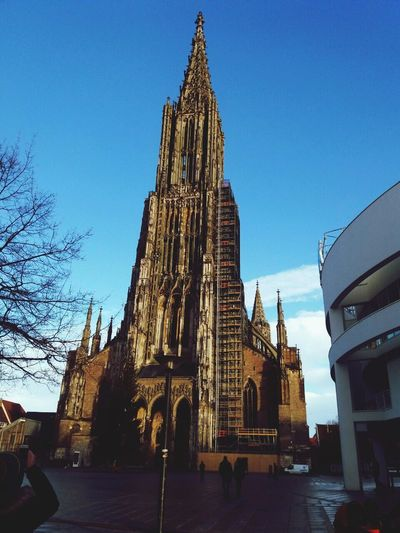 Kirche Ulm Stadt Deutschland Religion Place Of Worship Spirituality Architecture Built Structure Building Exterior Low Angle View