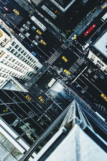 The Architect - 2016 EyeEm Awards High Off the Ground. Looking Down City Cars Road Marking