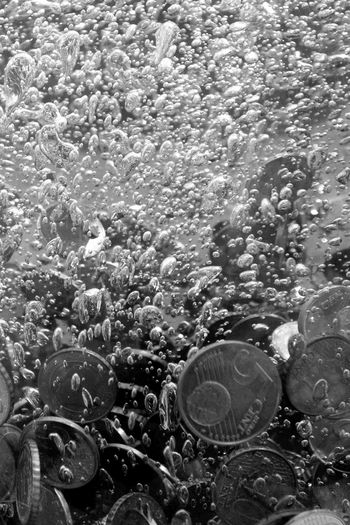 5 Cents Coin Bubble Bubbles Close-up Coin Day Euro Coins Indoors  No People UnderSea Water