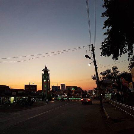 Thaton Town Igersmyanmar Clocktower Myanmar Burma Sunset Instagood AOV Artofvisuals Travelgood Travelstyle Yourworldgallery Vacationinstyle Sky Mobilephotography