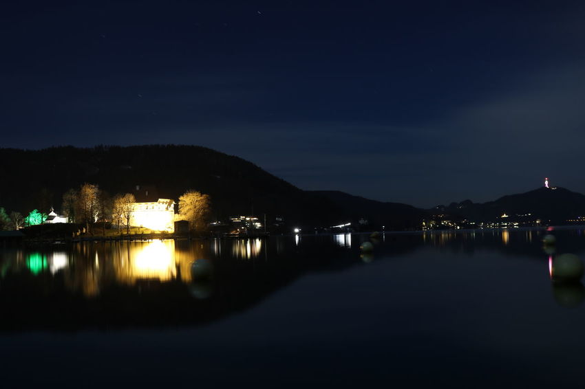 See bei Nacht Austria Kärnten EyeEmNewHere EyeEm Ready   Wörthersee Architecture Photography Landscape Landscape #Nature #photography Landscape_photography Licht Light Lights Nature Photography Naturelovers Photooftheday Fotografie Nature_collection Lake Tree Nacht Natur See Water Outdoors Mountain Sky No People Nature Star - Space