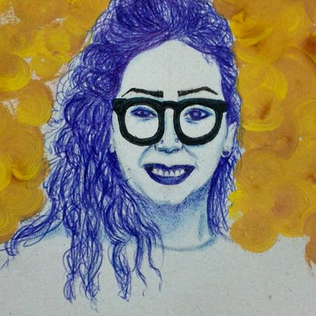 Drawing ✏ Draw By Me Drawportrait Skecth SkecthArt Art Art, Drawing, Creativity Drawpen Smile MeMyself&I Colors Glasses Yellow Color FollowMeOnInstagram miky1704 😄