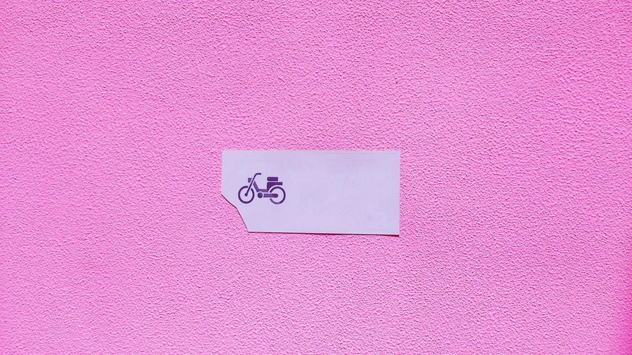 Bike Black Blackandwhite Colour Colours Day Graphic Motorbike Pink Pink Color Street Streetphotography Sun Symbol Wall Millennial Pink EyeEmNewHere