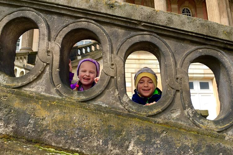 Smiling Portrait Looking At Camera Architecture Leisure Activity Cheerful Happiness Day Arch Built Structure Outdoors Real People Childhood Lifestyles Headshot Boys Friendship Building Exterior Young Adult People Germany Photos Official EyeEm © EyeEm Selects IPhone 7 Plus Park Sanssouci