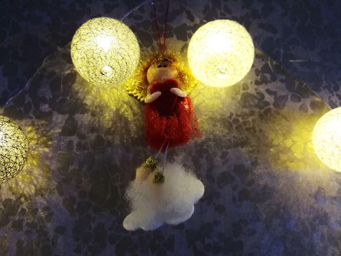 Night Close-up House Domestic Life Lights Christmas Lights Illuminated Christmastime Christmas Decorations Christmas Spirit Angel Christmas Ornament Celebration Christmas Decoration Holiday - Event Hanging Christmas