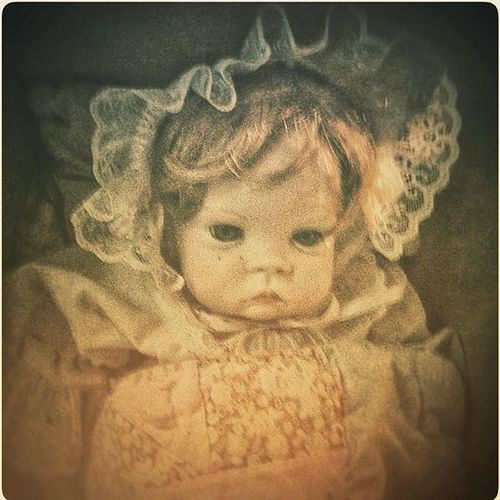 Just an FYI: this doll HATES you, so be careful... Toysforgots @toysforgots @calamitycupcake @insideart Creepydolls Dolls Olddolls Creepy Partnersingrime Creepycute NotCute Antique Oldphoto Ghoststory