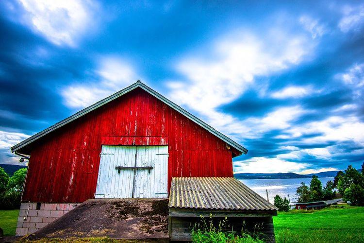 Exterior of house against blue sky