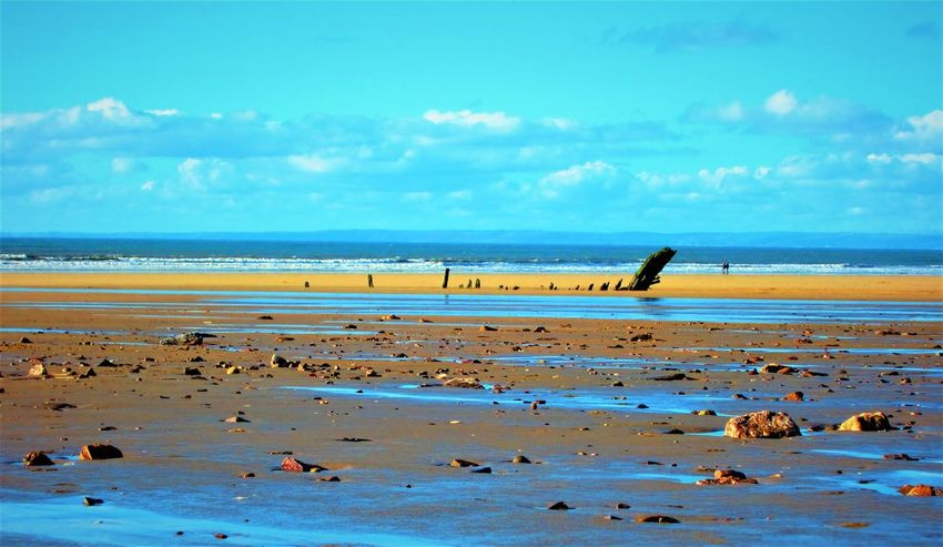 Horizon behind the Helvetia Beach Beauty In Nature Blue Sky Couple - Relationship Gower Gower Peninsular South Wales Gowercoast Gowerpeninsula Helvetia Horizon Over Water Nature Pebbles Pebbles And Stones Pebbles On A Beach Rhossili Rhossili Bay Romantic Sand Scenics Sea Shipwreck Sky Tranquility Wales Water The Great Outdoors - 2017 EyeEm Awards Neighborhood Map Sommergefühle EyeEm Selects Neon Life Lost In The Landscape EyeEm Ready   Shades Of Winter