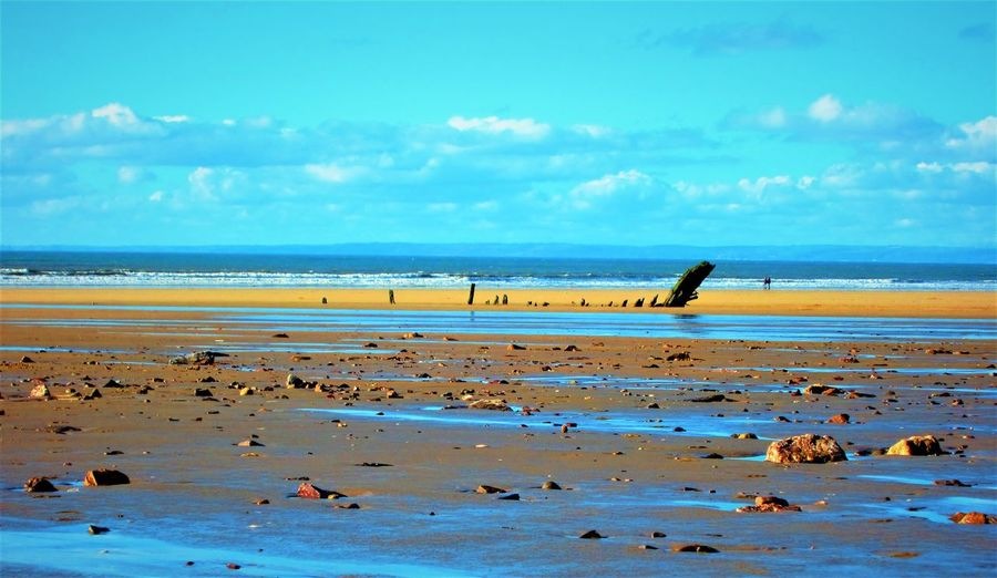 Horizon behind the Helvetia Beach Beauty In Nature Blue Sky Couple - Relationship Gower Gower Peninsular South Wales Gowercoast Gowerpeninsula Helvetia Horizon Over Water Nature Pebbles Pebbles And Stones Pebbles On A Beach Rhossili Rhossili Bay Romantic Sand Scenics Sea Shipwreck Sky Tranquility Wales Water The Great Outdoors - 2017 EyeEm Awards Neighborhood Map Sommergefühle EyeEm Selects Neon Life Lost In The Landscape EyeEm Ready   Shades Of Winter Summer Exploratorium