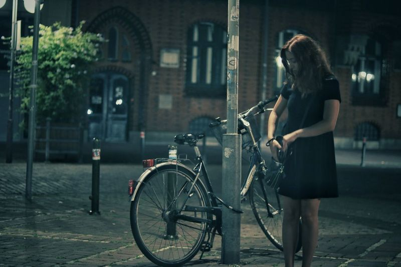 Germany..Hannover 2016.. Bicycle Street Journey Women Hannover, Germany🇩🇪 Nightphotography Streetphotography Street Photography