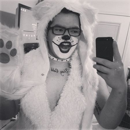 RAWR! I'm a polar bear! And that's about all I remember from last night. Costume Halloween Latenight Hangover blowpony