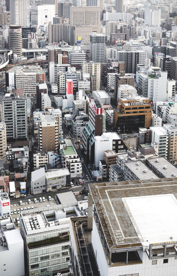 Aerial View Architecture Building Exterior Built Structure City City Life Cityscape Day Development Elevated View Japan Modern Office Building OSAKA Osaka,Japan Outdoors Residential Building Residential District Sky Skyscraper Tall Tall - High