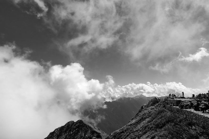 Summit 3003m(9852ft) Mountain Range Summit View Mountains And Sky Mountain Peak Cloud - Sky Outdoors People Mountain Hiking Beauty In Nature EyeEm Best Shots Monochrome Blackandwhite From My Point Of View 雄山 in Tateyama, Japan
