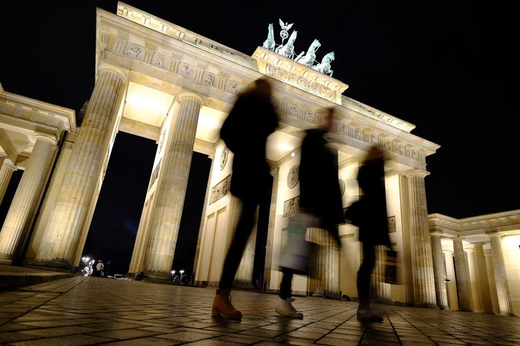 Architectural Column Architecture Berlin Brandenburg Brandenburg Gate Famous Place Motion Blur Night Porta Di Brandenburgo The City Light
