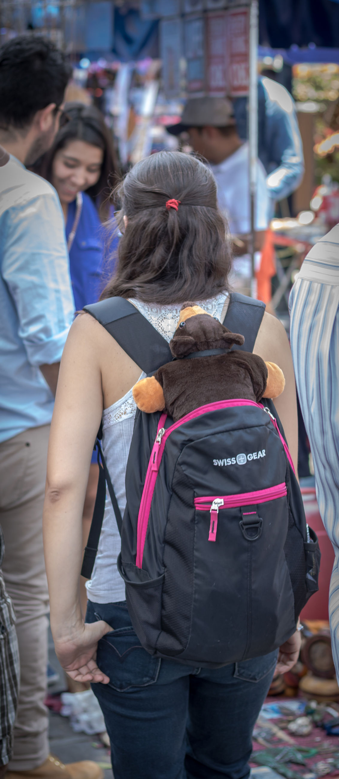 rear view, real people, backpack, leisure activity, lifestyles, two people, day, women, outdoors, togetherness, men, people