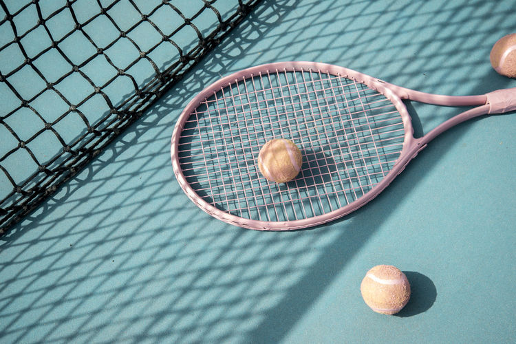 Activity Adult Adults Only Ball Competitive Sport Court Leisure Activity Lifestyles Net - Sports Equipment One Person Outdoors Playing Racket Racket Sport Recreational Pursuit Scoring Sport Tennis Tennis Ball Tennis Net Tennis Racket Minimalist Architecture