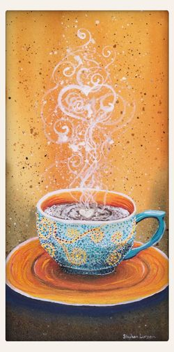 Fall coffee mug painting Stephenlursenart
