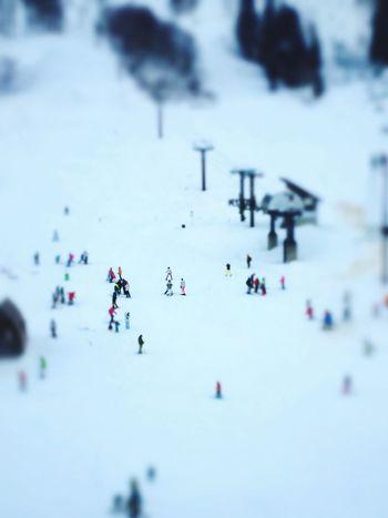 最近はスキー場が混まないので、思いっ切り楽しめますね。^^ Enjoying Life Ski Skiing Tiltshift