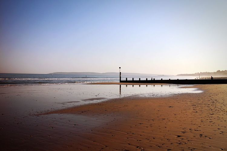 Empty Beach Pier Bournemouth Summer Beach Water Sea Beach Sky Land Scenics - Nature Beauty In Nature Horizon Over Water Tranquil Scene Horizon Sand Tranquility Clear Sky Nature Idyllic No People Non-urban Scene Bird Sunset Outdoors