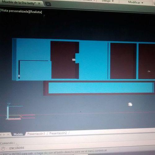 Modelando un mueble... Diseñando!!! Si la Anáhuac me acepta... Futuro arquitecto!!! Arquitectura Anahuac Diseño Muebles autocad unimayab