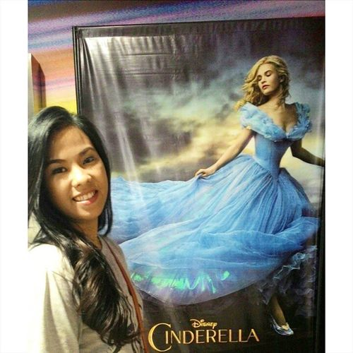 """""""Have courage, be kind...."""" Feels like a kid again! ^_^ Yes i'm never too old to watch disney movies... ❤❤❤ never magsasawa sa Cinderella! I love happy endings! ❤ 100happydaysofkei Day96 Saturdate"""