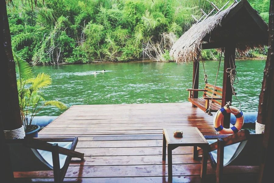 Can just swim...all day... jump into river right off your balcony.. Check This Out Beautiful Nature Just Thinking Floating House Hello World