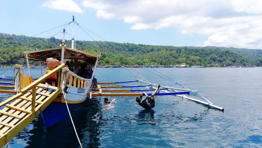 hanging out by the beach Philippines Davao Filipino Asian  Summer ☀ Sea Beachphotography Samal Island Summer Views Beach Summertime Summer Water Nautical Vessel Sky Cloud - Sky Summer Exploratorium