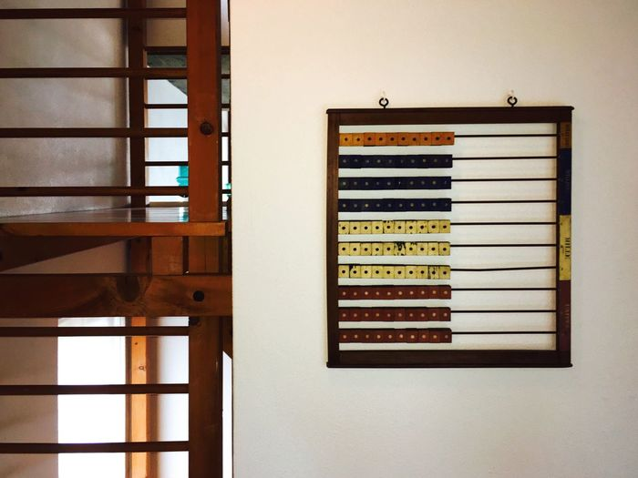 Abacus mounted on wall