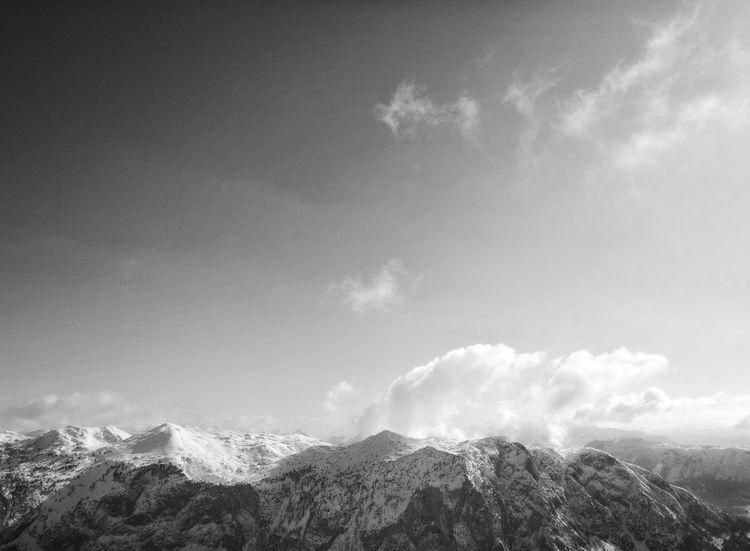 Blackandwhite Blackandwhite Photography Schwarzweißfotografie Nature_collection Wintertime Beauty In Nature Black & White Schwarz & Weiß Blackandwhitephoto Bw_collection Wolkenhimmel Clouds And Sky Cloudscape Cloudscapes CloudPhotography Wolkenbilder BW_photography Berge Mountain Range BW_photography Cloud - Sky Mountain Sky No People Day Outdoors Nature