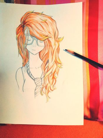 Today i Draw this girl . - Art Drawing Girl