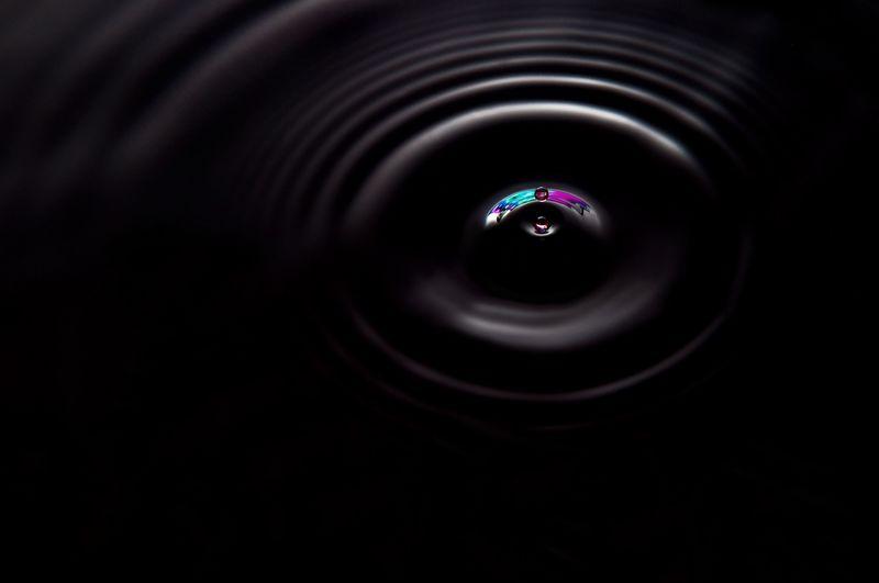 Extreme close up of camera