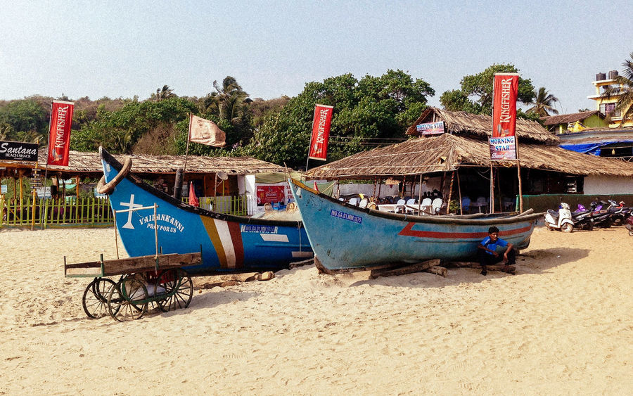 Beach Photography Boats Day Fish Boats Goa Goa India India Indian Culture  Nature No People Outdoor Outdoors Sea Cost Sky Tourism Tranquility Travel Destinations Travel Photography Vacations