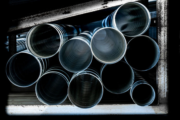Close-up of pipes