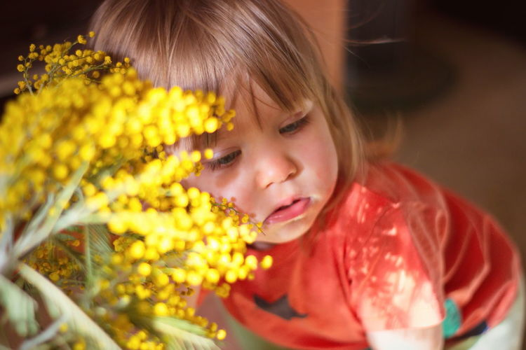 Child Childhood Mimosa Aromatic Sunlight Sunday People Portrait International Women's Day 2019 Women Blond Hair Blonde Girl Babygirl Flowers Flowerporn Yellow Flower Blue Eyes Pollen Sniffing Sniff PeopleZiesel777 Blink Squinting Sadness Close-up One Person Headshot Hairstyle Innocence Flower Yellow Females My Best Photo Springtime Decadence