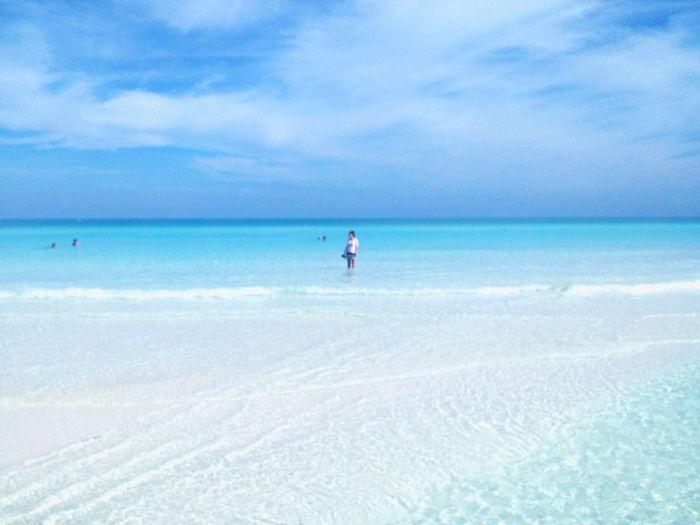 Carribean Water Ocean Sun Azure Blue Sky Nature Cuba Beach Holiday Trip Island Fiedel Heaven
