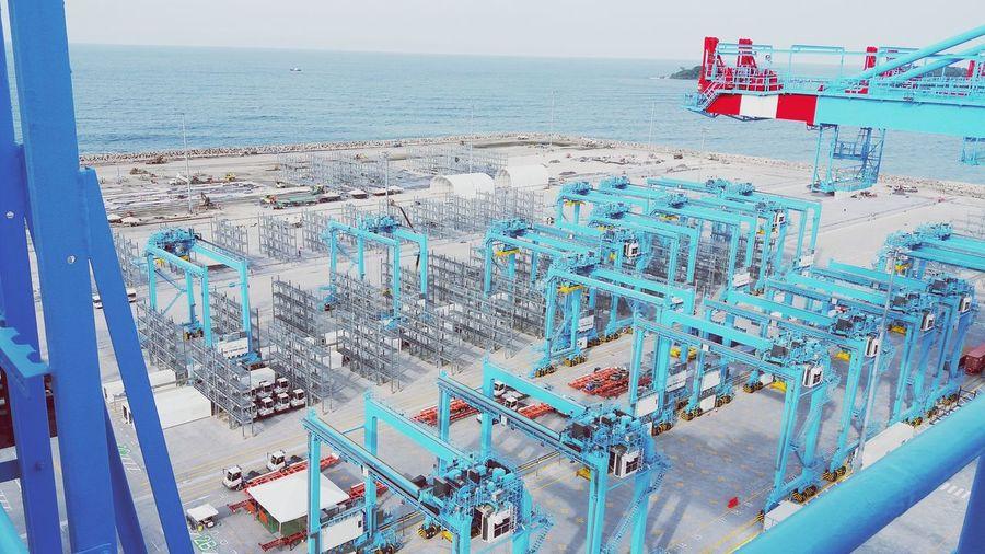 work work #costarica Beach Sun Vessels Cranes